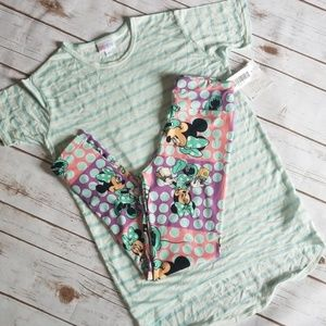 Girls Disney Luaroe outfit. Size tween and 12. New